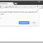 Save credentials in chrome